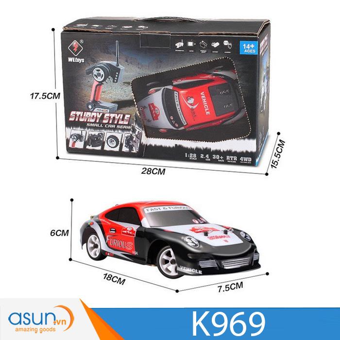 Xe Drift Điều Khiển Từ Xa Wltoys K969 1/28 2.4G