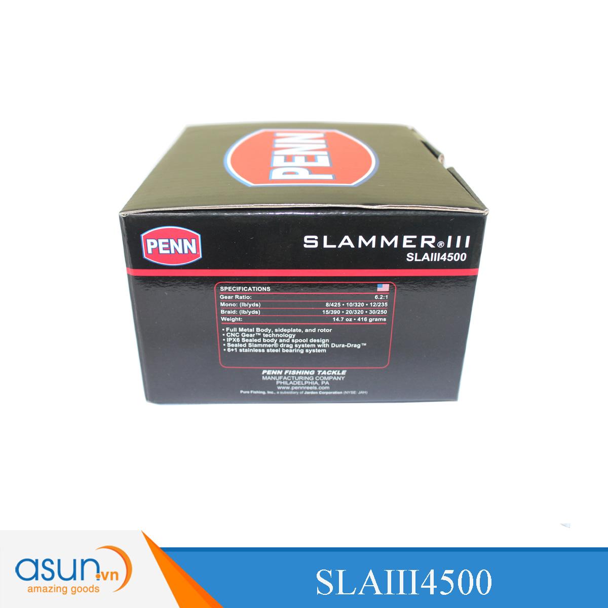 Máy Câu Đứng Penn Slammer III 4500 - SLAIII4500 - Chính Hãng BH 1 Năm