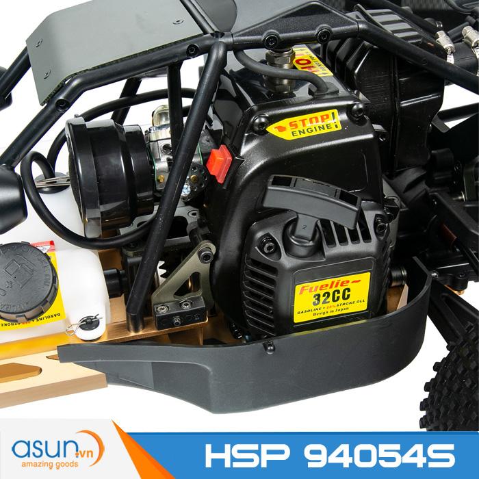 Combo Xe Xăng A92-A95 Điều Khiển BAJA 32CC 4WD nhông chuyền Full kim loại  Tỉ lệ 1-5 HSP 94054S