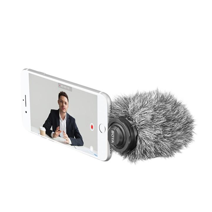 Micro thu âm kỹ thuật số Boya BY-DM200 cổng Lightning cho Iphone 6,7,8,X