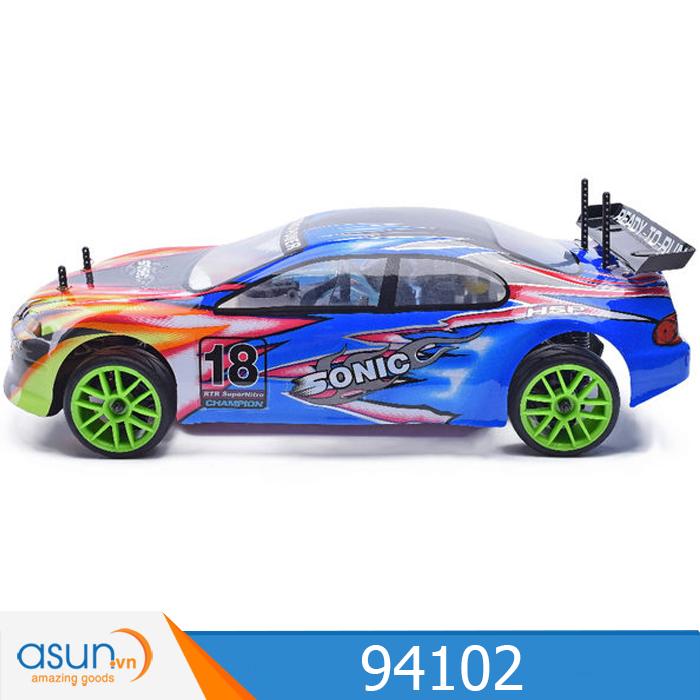 Combo Xe Xăng Nitro Điều Khiển HSP 1:10 94166 On Road 4WD
