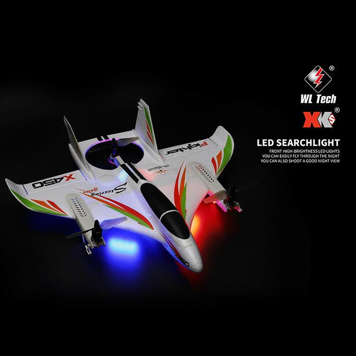 Máy Bay Cánh Bằng Điều Khiển Từ Xa Wltoys XK X450 AVIATOR VTOL 2.4G Brushless 6CH EPO 3D 6G Sải Cánh 450mm