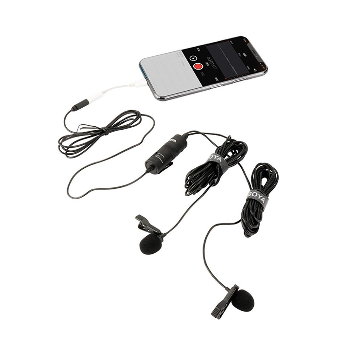 Micro thu âm kỹ thuật số cài áo Boya BY-M1DM thu cho 2 người song song