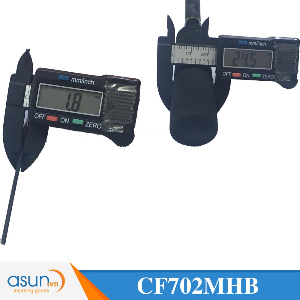 Cần Câu Ngang Hai Khúc Ashino Carbon Fury CF702MHB chính hãng