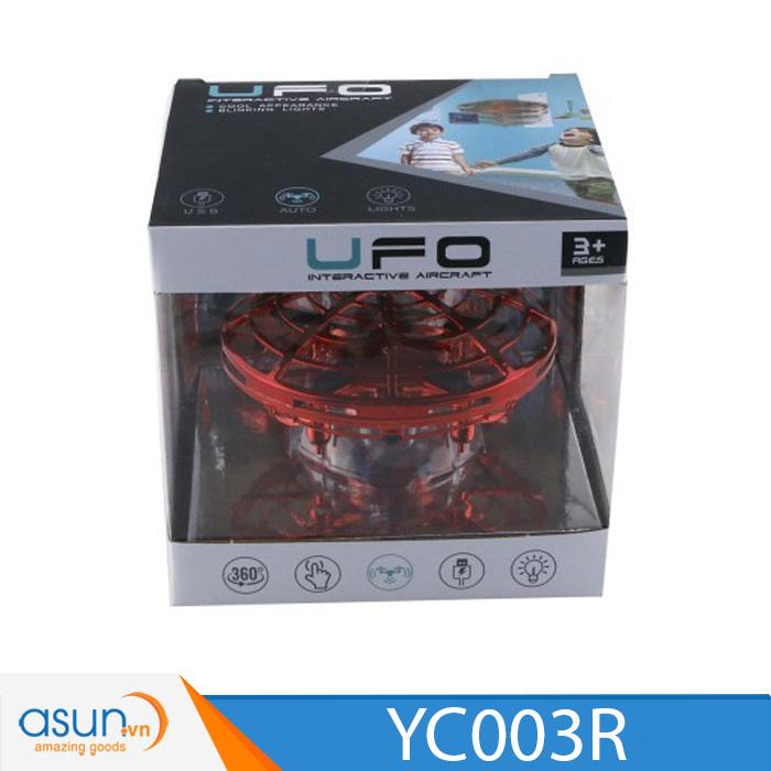Máy Bay Điều Khiển Cảm Ứng Tay  UFO 003R MÀU ĐỎ