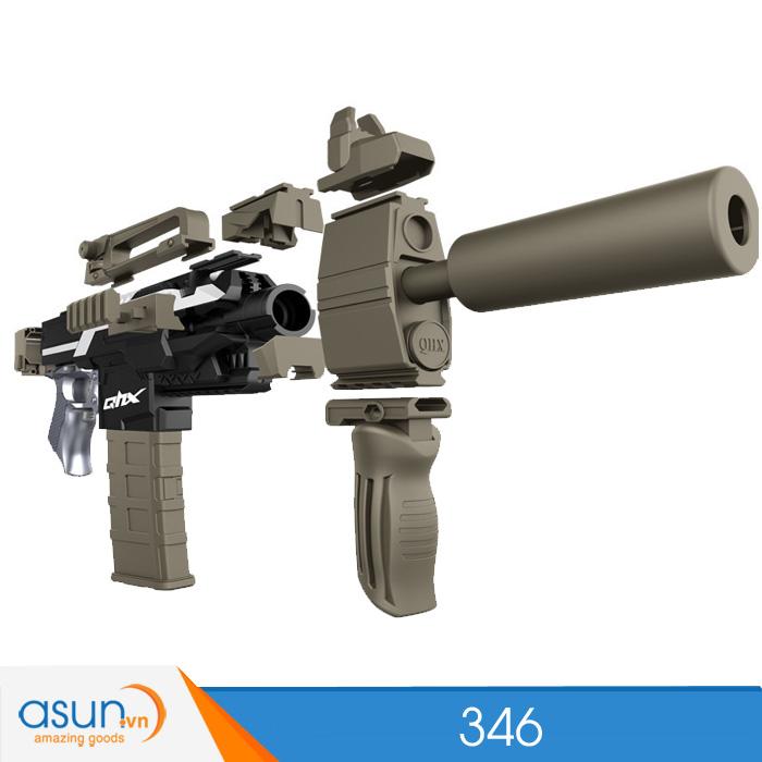 Súng Bắn Đạn Xốp Soft Gun 346 Đen