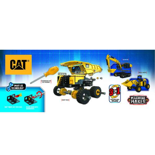 Bộ đồ chơi lắp ráp CAT - Xe ben, xe xúc 4 bánh & xe đào đất-CAT80950