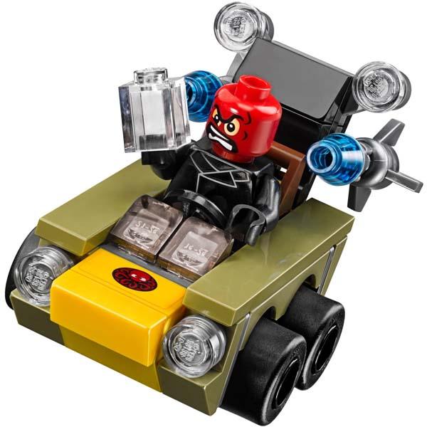 Đồ Chơi Xếp Hình - Đội Trưởng Mỹ Đại Chiến Red S Thương Hiệu LEGO