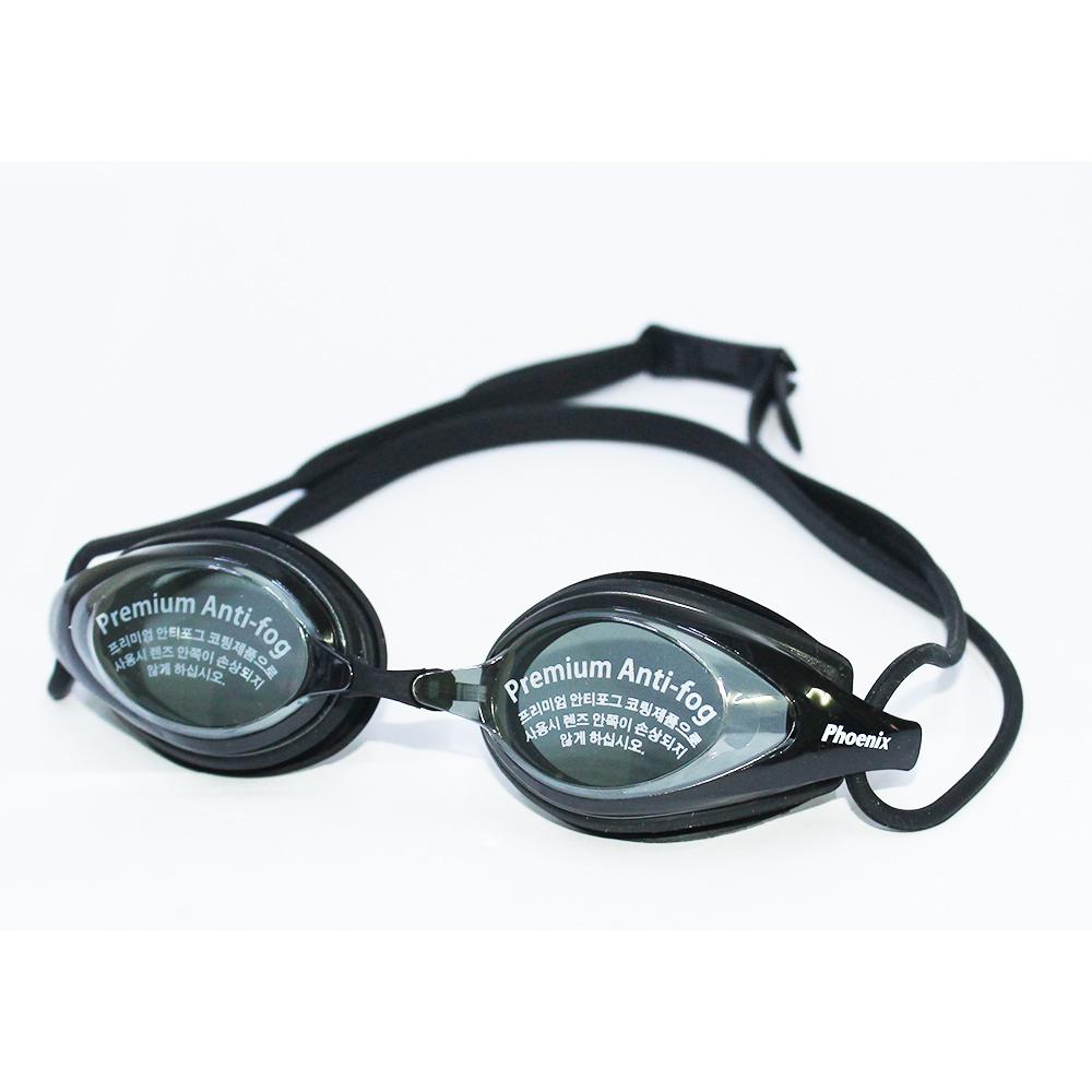 Kính bơi Phoenix Hàn Quốc Chuyên Nghiệp PN802 Có Tráng Gương màu đen  P802MRBK