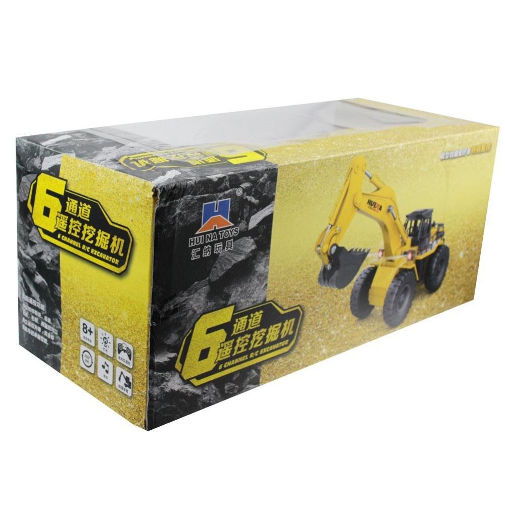 Xe Cào Máy Xúc Đất Điều Khiển Bằng Sắt Huina Toys 530