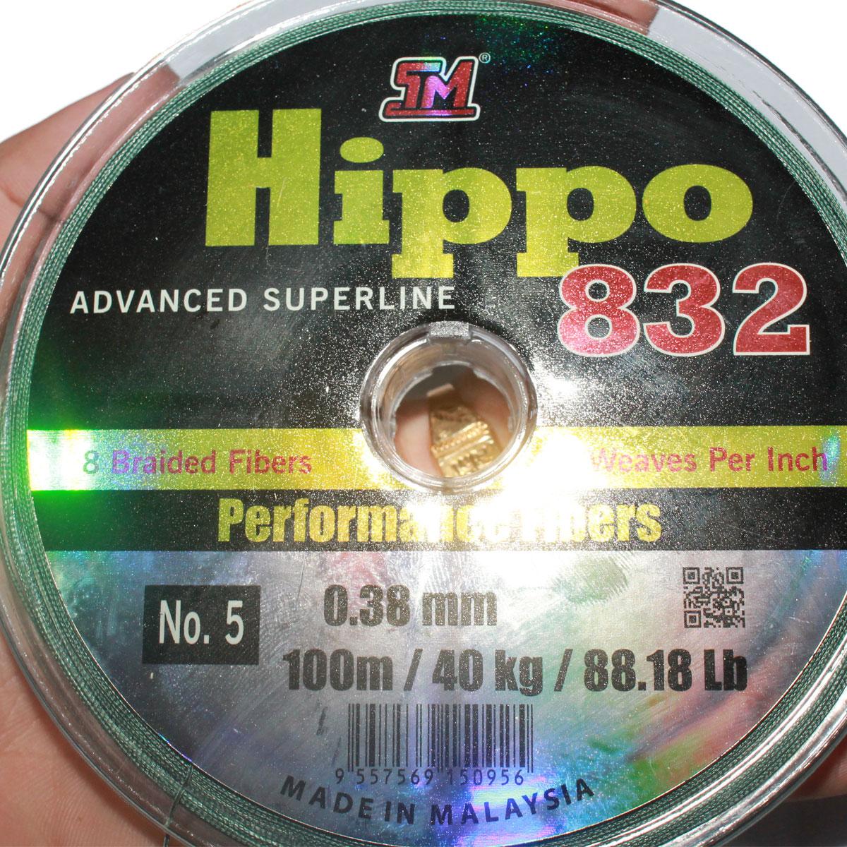 Dây Dù Câu Cá Siêu Bền TM Hippo 832 Cuộn Màu Xanh 100m