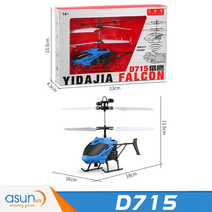 Máy Bay Điều Khiển Cảm Ứng Tay D715 Helicopter