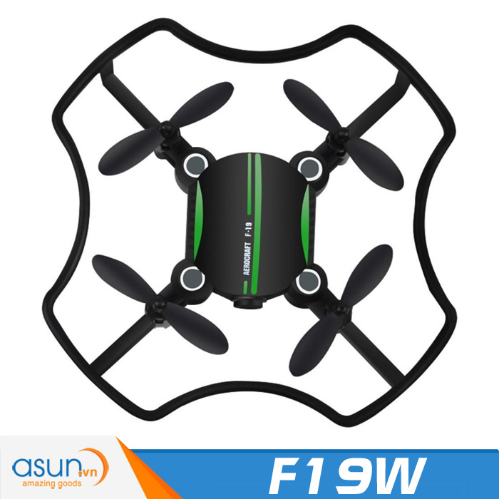 Máy Bay Điều Khiển UFO 4 Cánh Mini F19W Camera Wifi FPV Tự Giữ Độ Cao