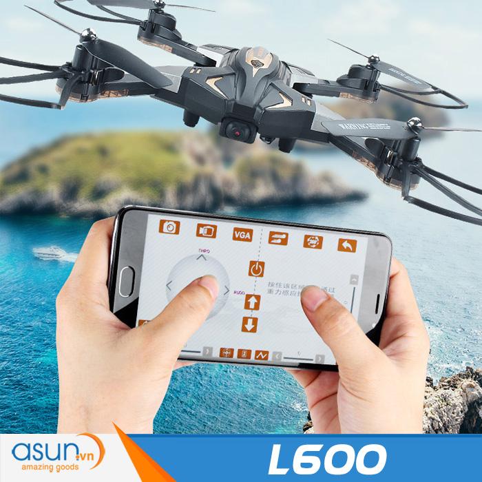 Máy Bay Điều Khiển Gấp Cánh L600 Wifi Camera Cảm Biến Quang Học