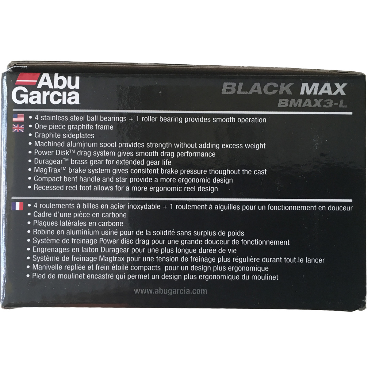 Máy Câu Ngang Abu Garcia Black Max 3 LeftBH 1 Năm Chính Hãng