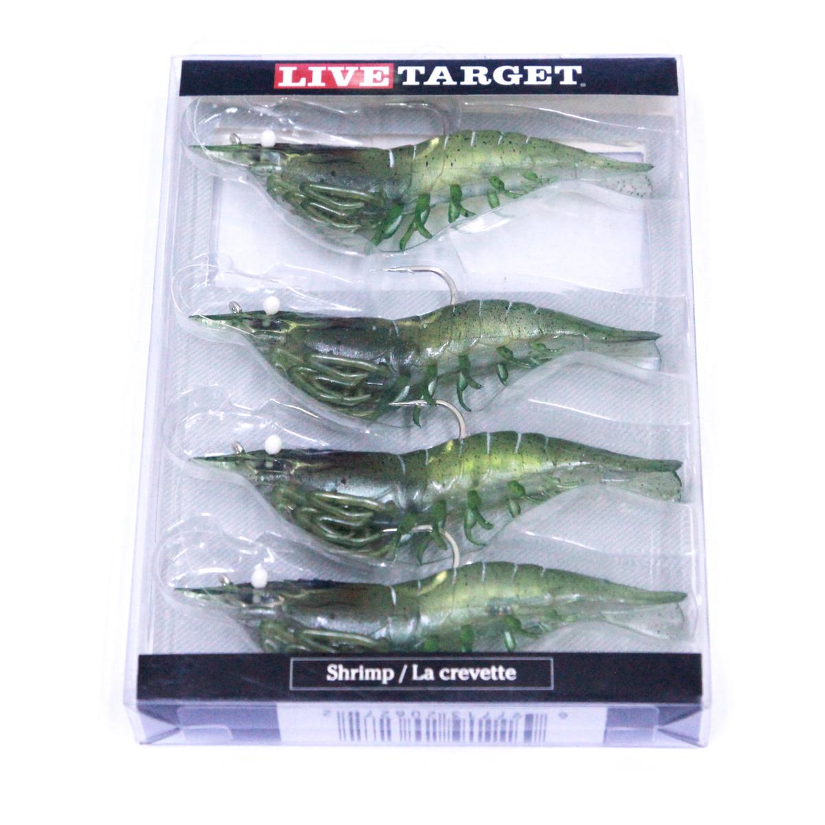 Mồi Tôm Giả Live Target Grass Shrimp 4 Con SS100SF 4 Inch