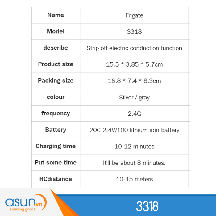 Tàu Chiến Điều Khiển Từ Xa 3318 2.4Ghz Bản Đẹp