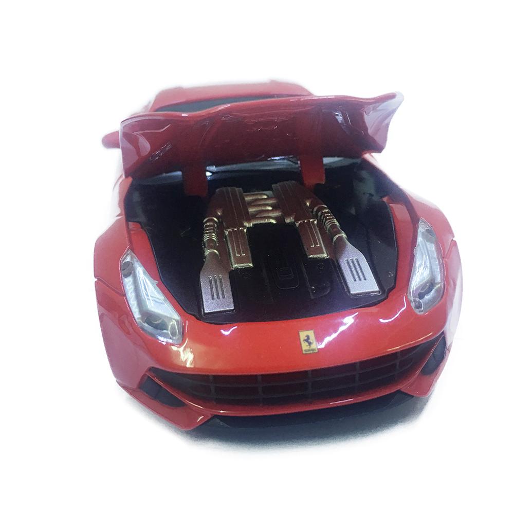 Xe Chạy Dây Cót Bằng Sắt Ferrari F12 32033 Đóng Mở Cửa Có Đèn Nhạc