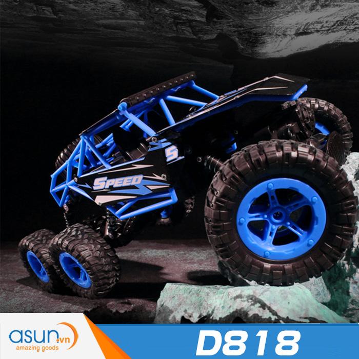 Xe  Điều Khiển Địa Hình Rock Crawler D818 6 Bánh Chuyển Động