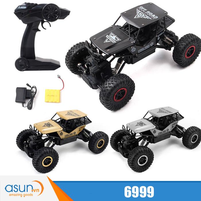 Xe  Điều Khiển Địa Hình Rock Crawler 6999 4WD Rally Car Vỏ Nhôm - Vàng Đồng