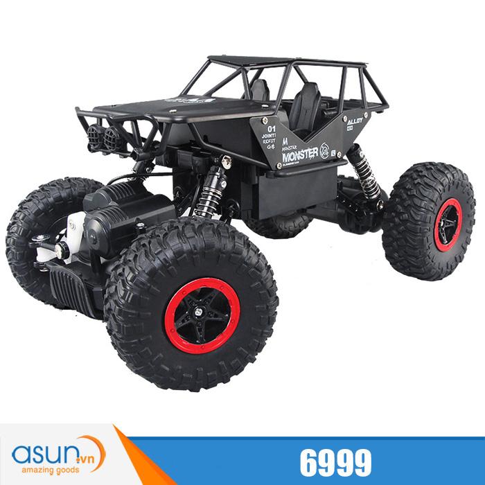 Xe  Điều Khiển Địa Hình Rock Crawler 6999 4WD Rally Car Vỏ Nhôm- Màu đen