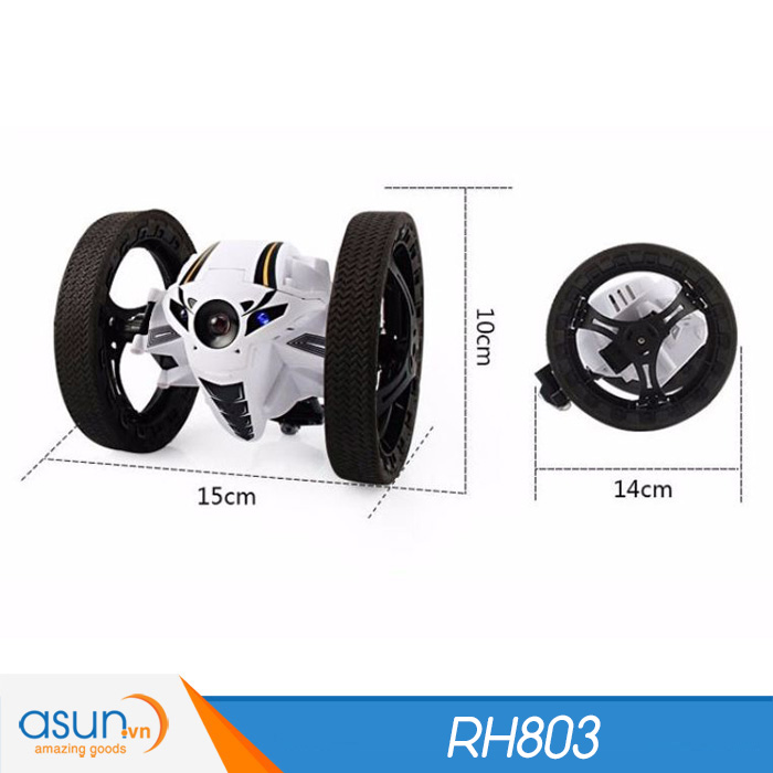 Xe Điều Khiển Từ Xa Nhún Nhảy RH803 Trắng Vượt Địa Hình Bounce Car 2.4Ghz