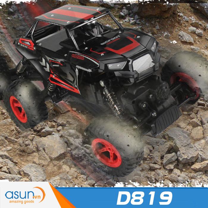 Xe  Điều Khiển Địa Hình Rock Crawler D819 6 Bánh Chuyển Động Đỏ