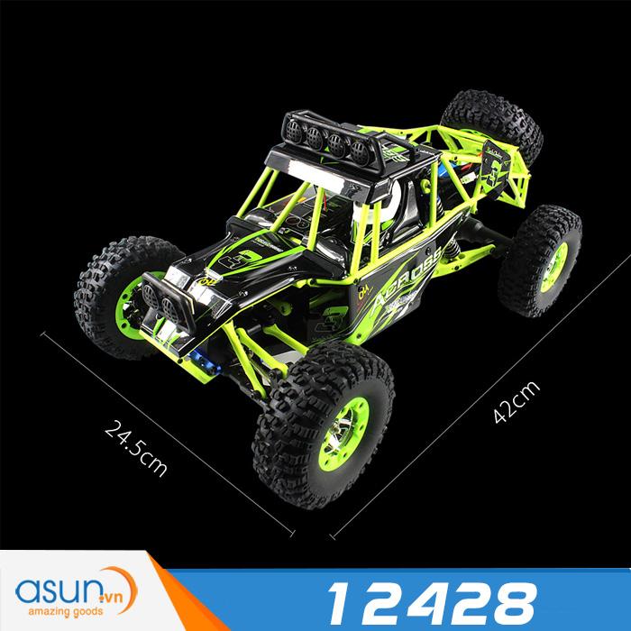 Xe Điều Khiển Địa Hình Từ Xa Rock Crawler 12428 Wltoys 50 km 4WD