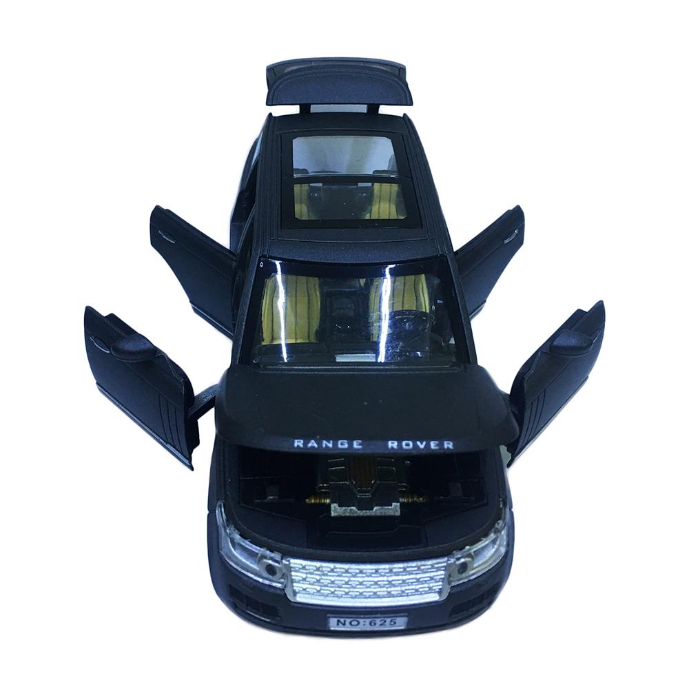 Xe Mô Hình Chạy Dây Cót Bằng Sắt Range Rover R625 Đóng Mở Cửa Có Đèn Nhạc