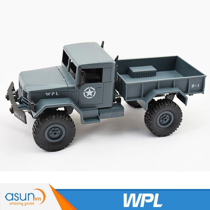 Xe Tải Quân Sự Mỹ Điều Khiển Từ Xa Military WPL 4WD-Màu Xanh quân sư Xanh quân đội B14