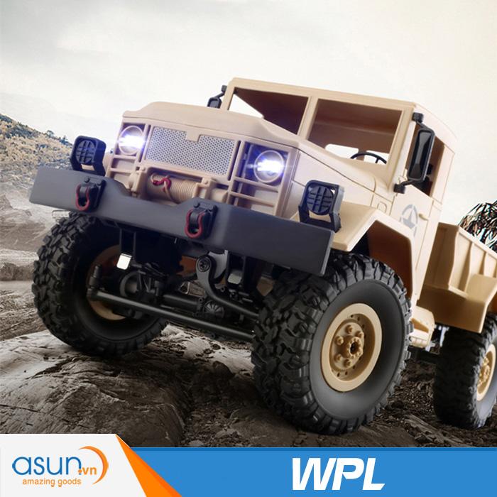 Xe Tải Quân Sự Mỹ Điều Khiển Từ Xa Military WPL 4WD-Màu Vàng quân sư B14