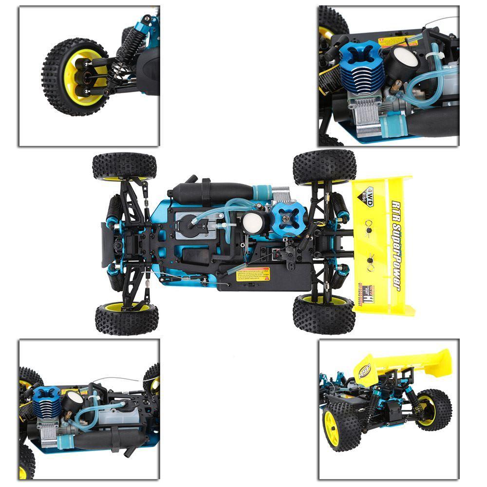 Combo Xe Xăng Nitro Điều Khiển Buggy HSP 1:10 94166 Off Road 4WD Năm 2018