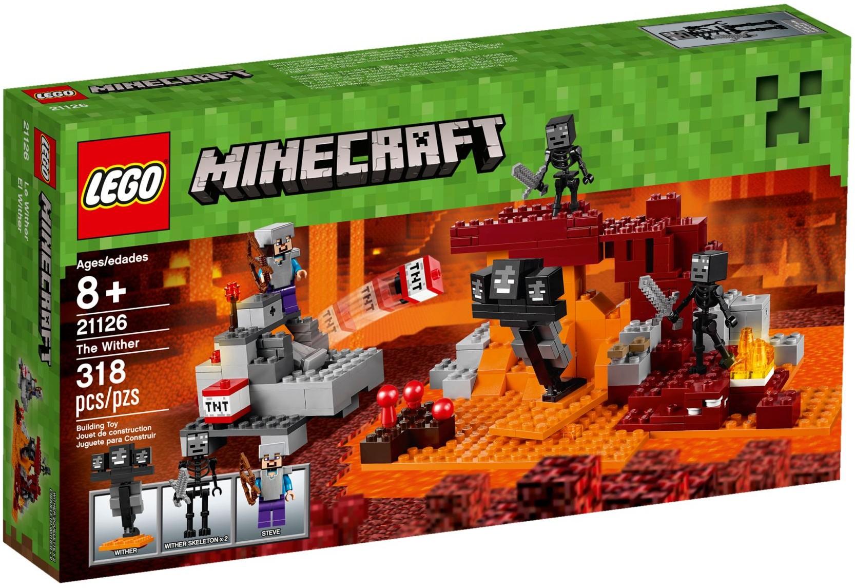 Đồ Chơi Xếp Hình - Ma Ba Đầu Wither Thương Hiệu LEGO