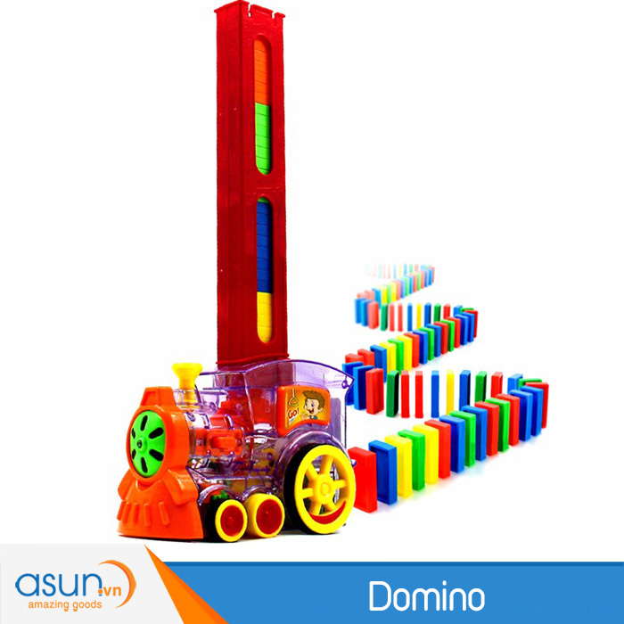 Tàu Điện Xây Domino Tự Động Sáng Tạo