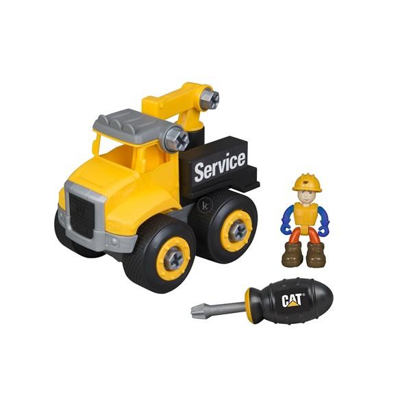 Bộ Đồ Chơi Lắp Ráp xe tải kéo và công nhân CAT80904